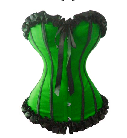 Green St. Patrick's Day Corset Mardi Gras Corset  - Sm-6X More Colors!