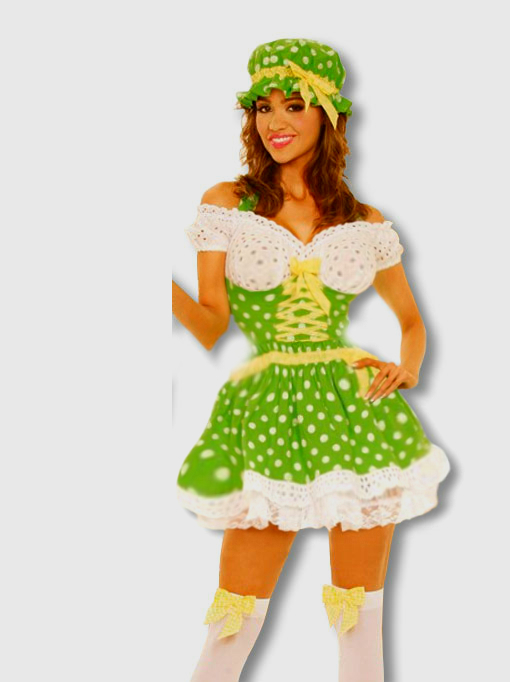 FREE Naughty Maid - Beer Wench - Sexy Circus Girl - Sexy Clown Costume With Any Order Over $80 (S-L)