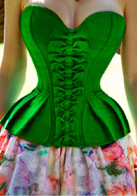 NEW Green Corset Top - Perfect party corset - Stunning Green