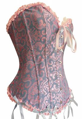 "Sturdy Tapestry Corset - many colors - up to 50"" waist"