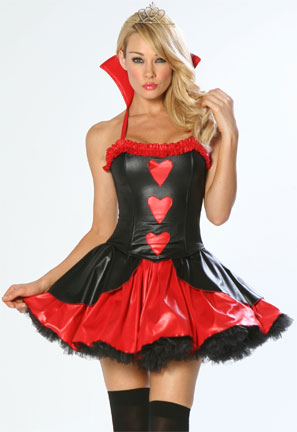 3 Piece Short Naughty Sexy Queen of Hearts Corset Costume
