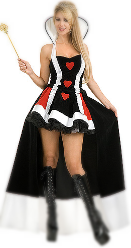 Deluxe Queen of hearts S-2XL FREE Corset Included AND Accessories Plus Size Queen Of Hearts