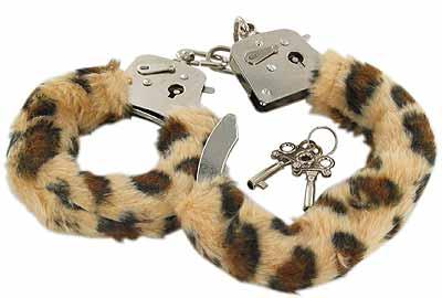 Furry Leopard Sexy Handcuffs