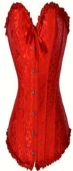 Sturdy and Slimming Red Satin Tapestry Corset Sm-6XL