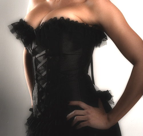 New 2014 Black Corset - Great for building a corset dress or corset costume - S-8XXL