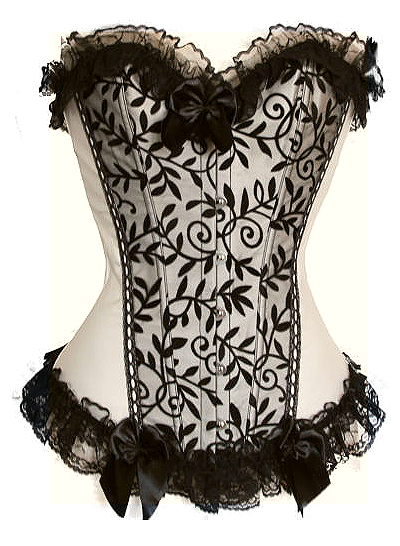 $25 Clearance Corset - Stunning flesh colored corset lightest cream with contrasting black velvet overlay (S-2X 1 of each left)