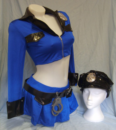 Arousing police officer costume