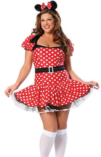 Plus size Mini Mouse costume - cute sexy naughty minnie mouse!