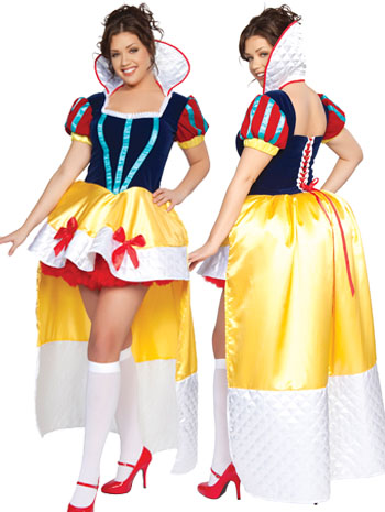 Plus size velvet deluxe snow white costume fits size L-3X with free corset