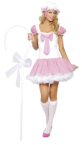 Pink or Green Sensuous Lil Bo Peep Costume