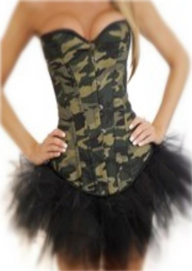 Camo Army Girl Corset hot camouflage also plus size camo