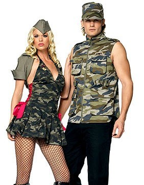 Oh so manly military costume!
