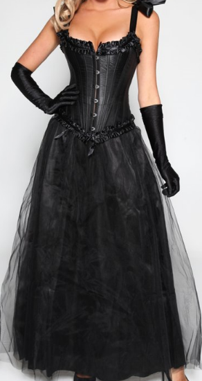 steel black corset long black tutu skirt plus size tutu dress